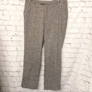 J.CREW CROPPED DONEGAL WOOL GREY PANT WOMENS 4